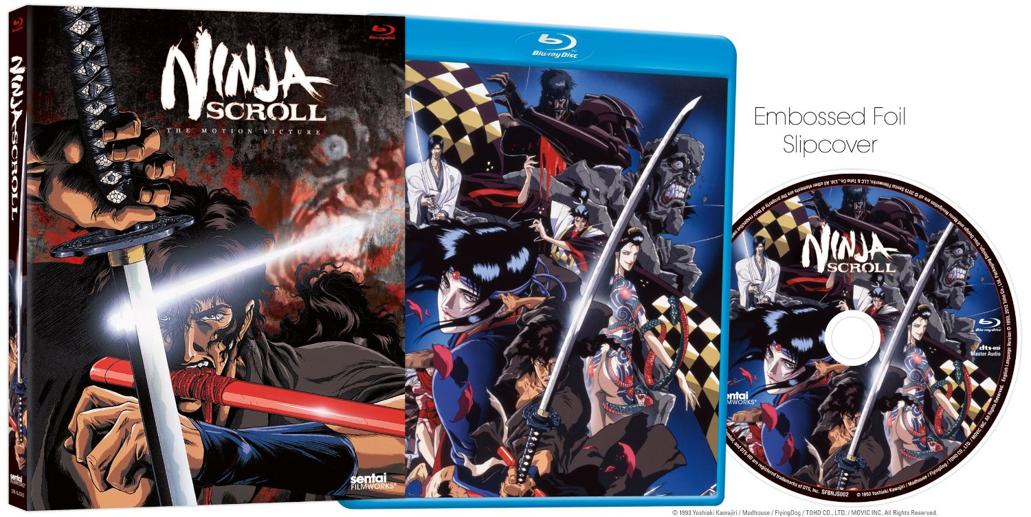 Anime Review Ninja Scroll 1993 Blu Ray 2015 Re Release Dvd News Flash The Reviews