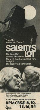 1979 Salem's Lot Part 2 Ad